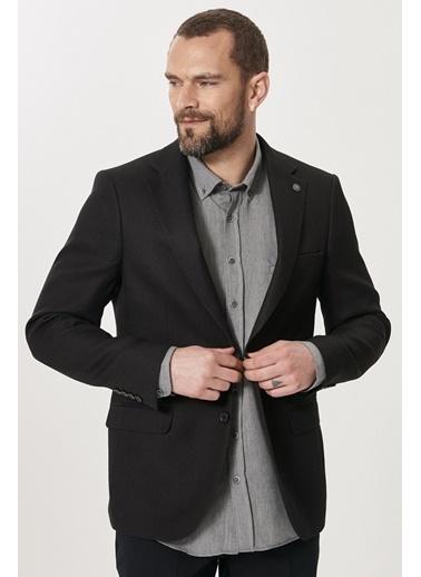 Altınyıldız Classics Slim Fit Dar Kesim Mono Yaka Blazer Ceket 4A0421200002 Siyah
